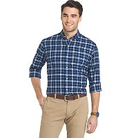 Big & Tall IZOD Newport Regular-Fit Plaid Oxford Button-Down Shirt