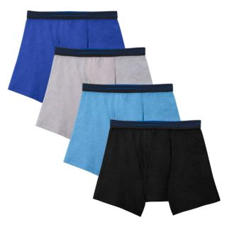 Boys Fruit of the Loom 3-Pack + 1 Bonus Cotton Mesh Boxer Briefs