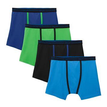 Boys Fruit of the Loom 3-Pack + 1 Bonus Micro Mesh Boxer Briefs