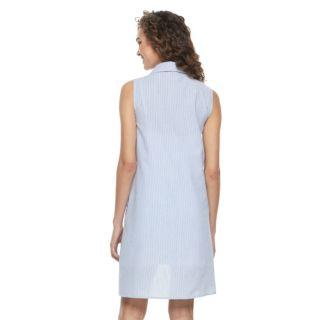 Women's Nina Leonard Seersucker Shirtdress