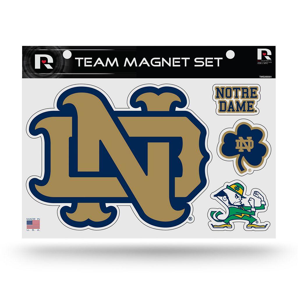 Notre Dame Fighting Irish Team Magnet Set