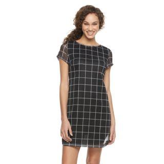 Women's Nina Leonard Plaid Woven Shift Dress