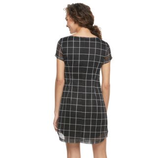 Women's Nina Leonard Plaid Woven Shift Dress