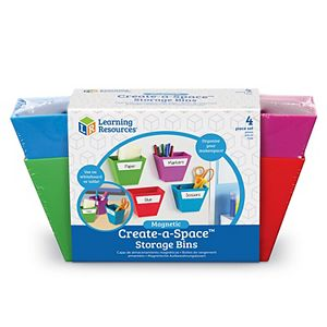 Learning Resources Magnetic Create-a-Space Storage Bins