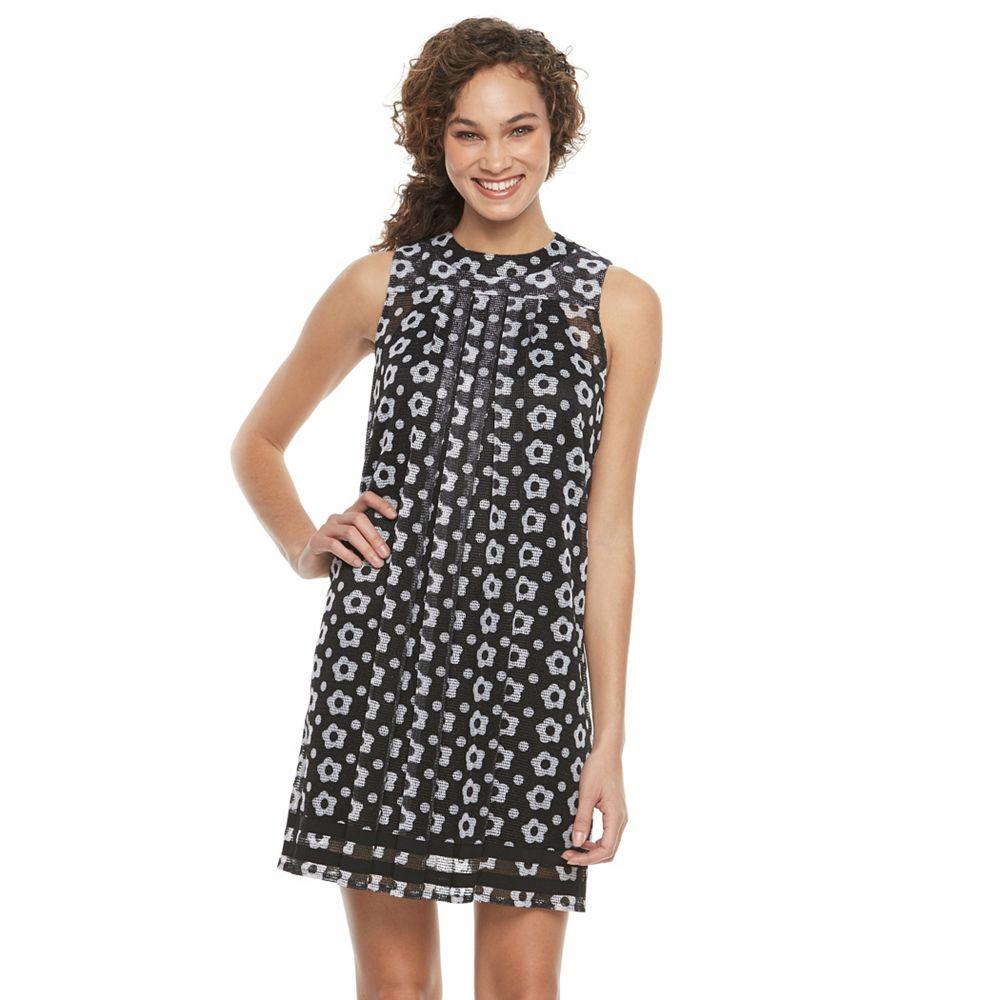 Womens Nina Leonard Floral Woven Shift Dress