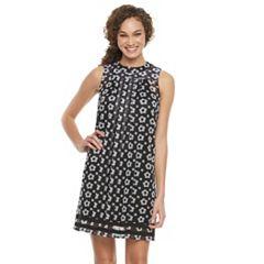 Women's Nina Leonard Floral Woven Shift Dress