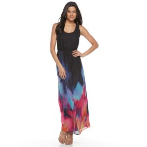 Women's Nina Leonard Brushstroke Maxi Dress