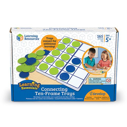Learning Resources Connecting Ten-Frame Trays
