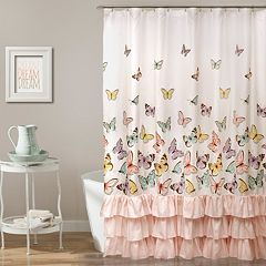 Lush Decor Flutter Butterfly Kid's Shower Curtain