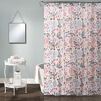 Lush Decor Pixie Fox Kid's Shower Curtain