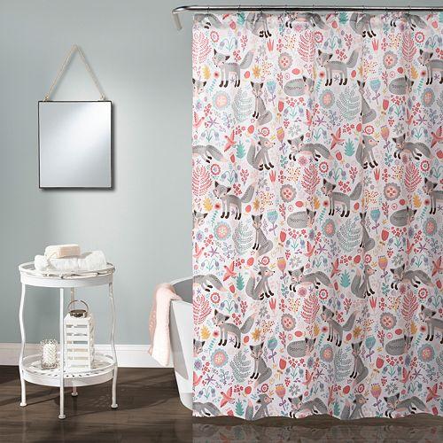 Lush Decor Pixie Fox Kids Shower Curtain