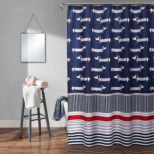Lush Decor Sausage Dog Kid's Shower Curtain