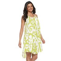 Women's Nina Leonard Gauze Shift Dress