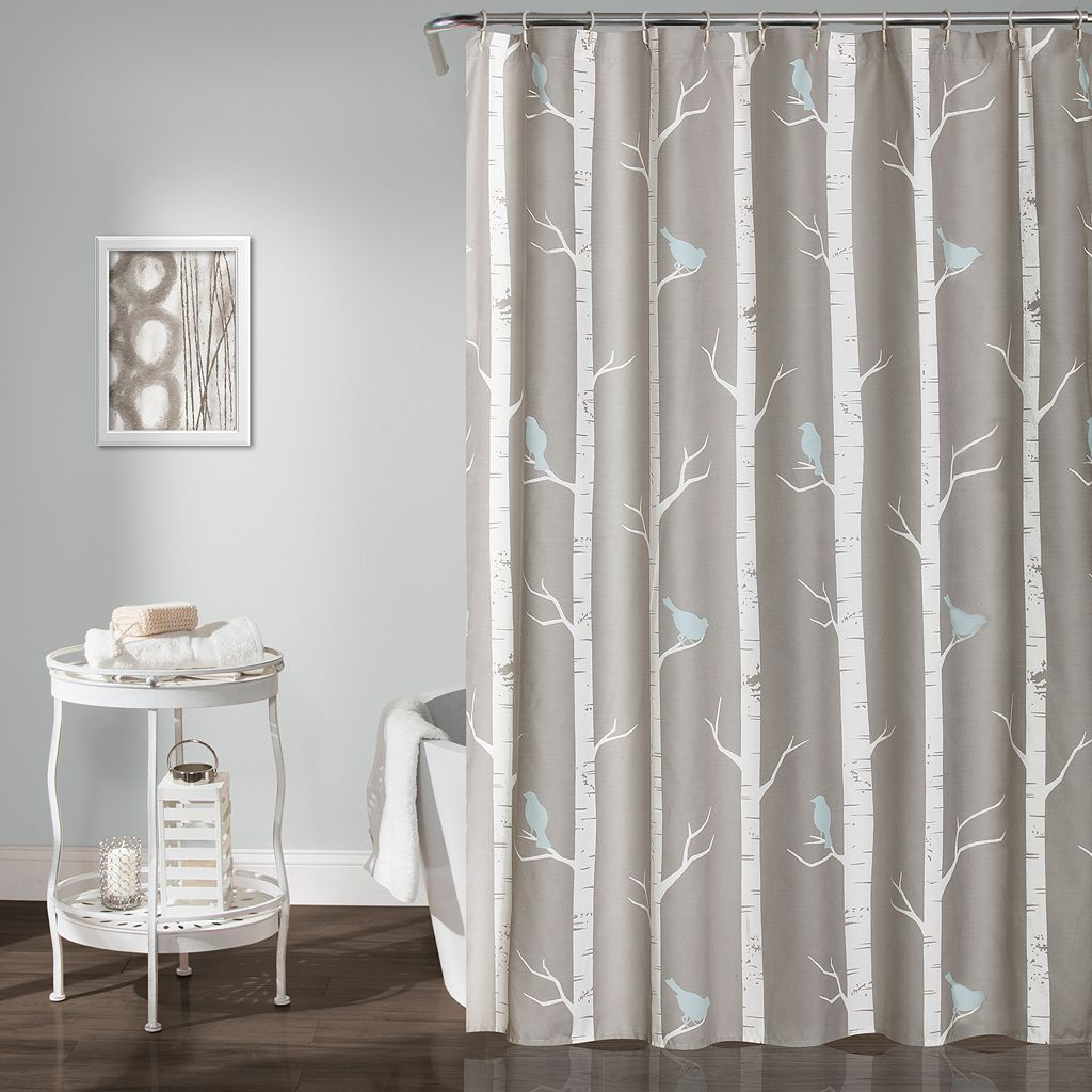 Lush Decor Bird On The Tree Shower Curtain
