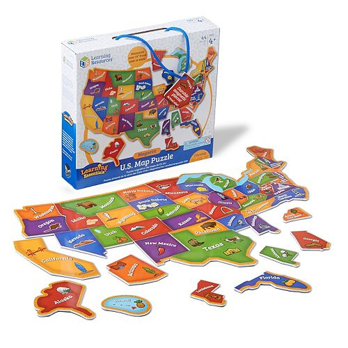 Learning Resources Magnetic U.S. Map Puzzle on dillard's map, puma map, lands end map, petco map, guitar center map, menards map, old navy map, dollar general map, gamestop map, camp randall stadium map, petsmart map, target map, nordstrom map,