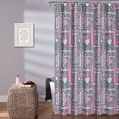 Lush Decor Kid's Fashion Shower Curtain