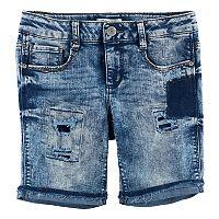Girls 7-16 & Plus Size Mudd® Extreme Acid Wash Ripped Bermuda Jean Shorts