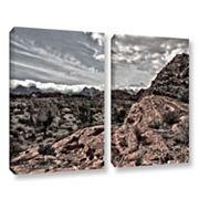 ArtWall Fingertip Afternoon Canvas Wall Art 2 pc Set