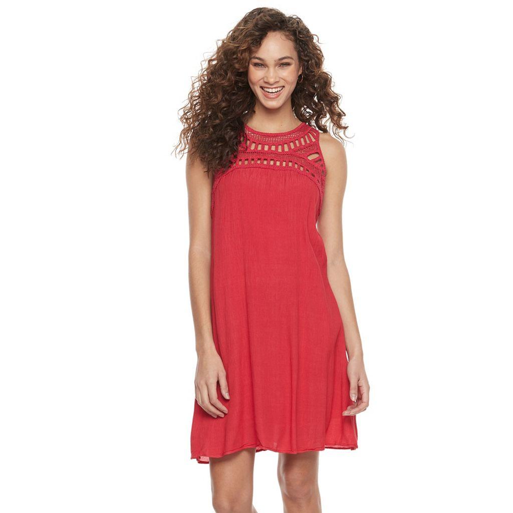 Women's Nina Leonard Solid Gauze Tank Dress
