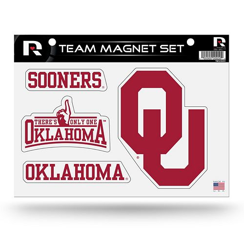 Oklahoma Sooners Team Magnet Set