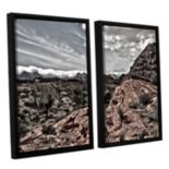 ArtWall Fingertip Afternoon Framed Wall Art 2-piece Set