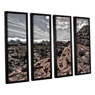 ArtWall Fingertip Afternoon Framed Wall Art 4-piece Set