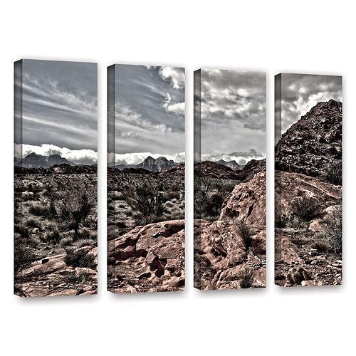 ArtWall Fingertip Afternoon Canvas Wall Art 4-piece Set