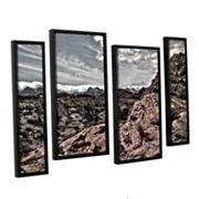 ArtWall Fingertip Afternoon Framed Wall Art 4 pc Set