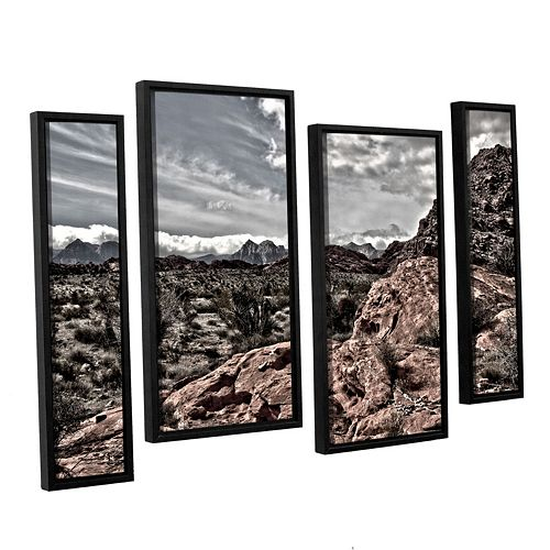 ArtWall Fingertip Afternoon Framed Wall Art 4-piece Set