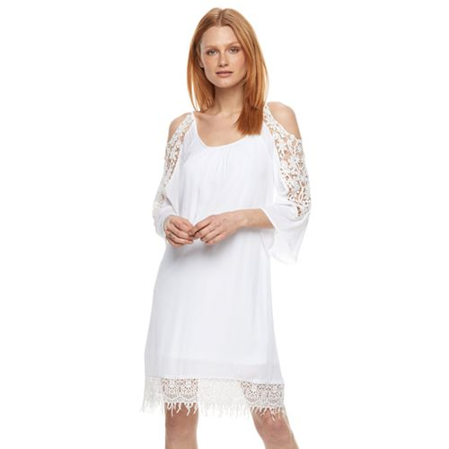 Women's Nina Leonard Cold-Shoulder Shift Dress