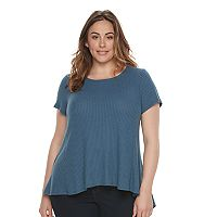 Plus Size SONOMA Goods for Life™ Waffle-Weave Swing Tee
