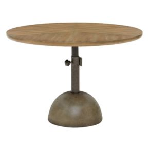 INK+IVY Discus Adjustable Round End Table