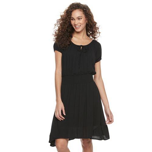 Women's Nina Leonard Gauze Blouson Dress