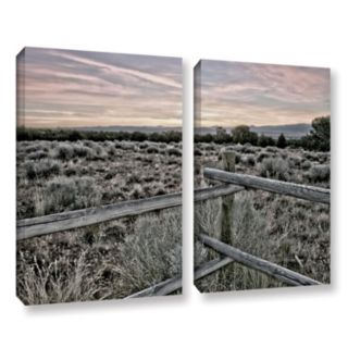 ArtWall Intersection Of The Tortoise & Hare Canvas Wall Art 2-piece Set