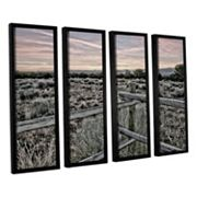 ArtWall Intersection Of The Tortoise & Hare Framed Wall Art 4 pc Set
