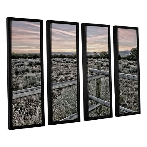 ArtWall Intersection Of The Tortoise & Hare Framed Wall Art 4-piece Set
