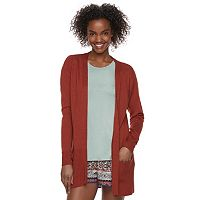 Juniors' Pink Republic Open-Front Cardigan