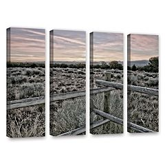 ArtWall Intersection Of The Tortoise & Hare Canvas Wall Art 4 pc Set