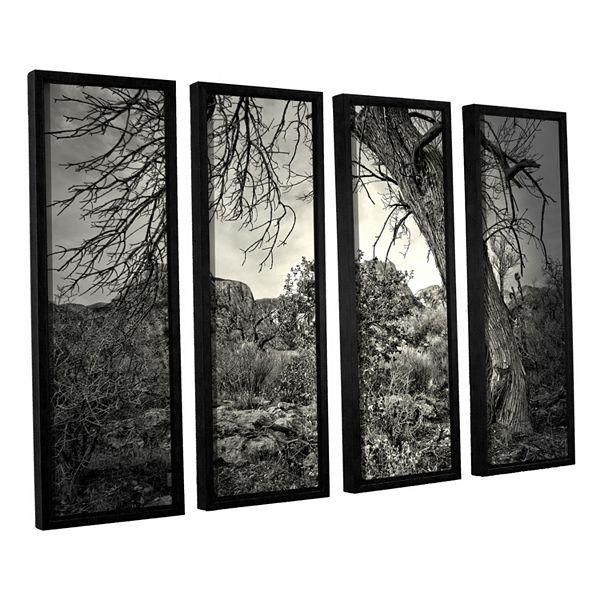 Artwall Listen To Whispers Framed Wall Art 4 Piece Set