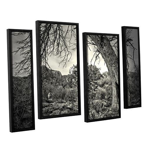 ArtWall Listen To Whispers Framed Wall Art 4-piece Set