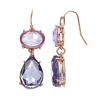 Jennifer Lopez Purple Oval & Teardrop Earrings