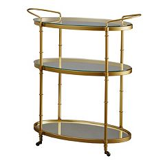 Madison Park Signature Lauren Gold Finish Bar Cart