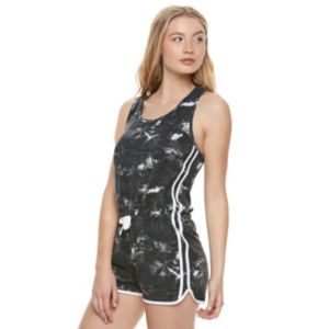 Juniors' SO® Racerback Tie-Dye Romper