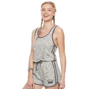Juniors' SO® Racerback Space-Dye Romper