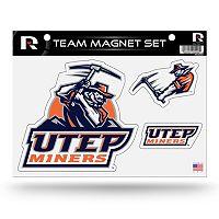 UTEP Miners Team Magnet Set