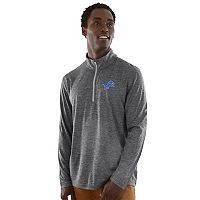Men's Majestic Detroit Lions Intimidating Half-Zip Top