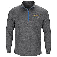 Men's Majestic San Diego Chargers Intimidating Half-Zip Top
