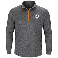 Men's Majestic Miami Dolphins Intimidating Half-Zip Top