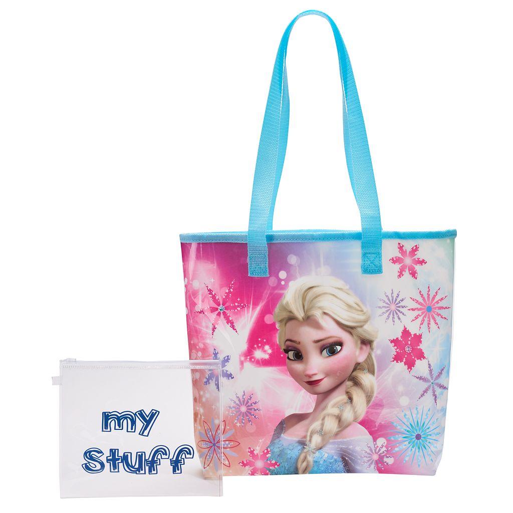 Disney's Frozen Elsa Girls Clear Back Beach Tote