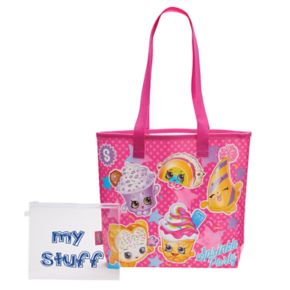 Girls Shopkins Clear Back Beach Tote